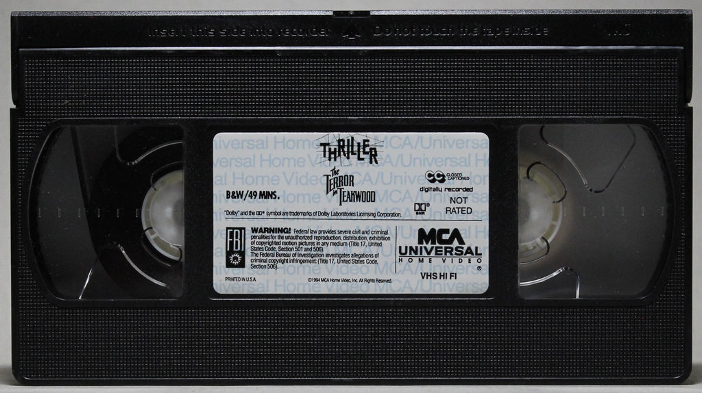 THE TERROR IN TEAKWOOD - VHS: MCA Universal Home Video, 1994