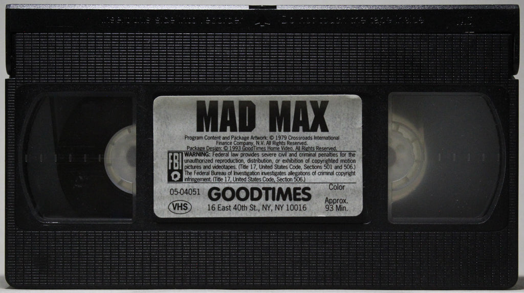 MAD MAX - VHS: GoodTimes Home Video, 1993