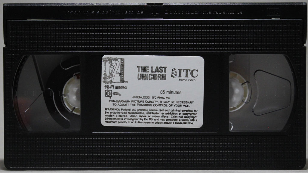 The Last Unicorn - VHS