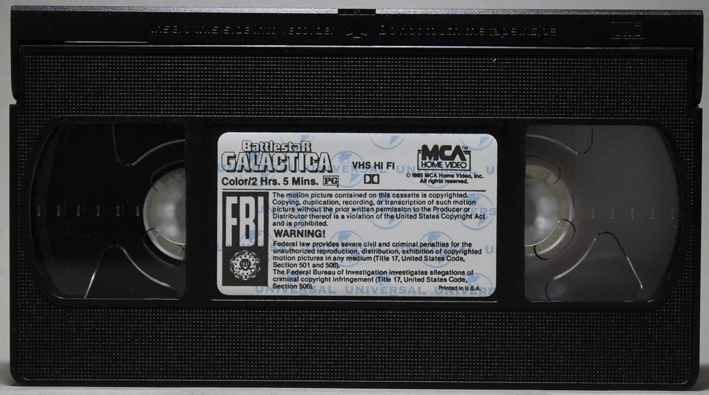 BATTLESTAR GALACTICA - VHS: MCA Universal Home Video, 1990