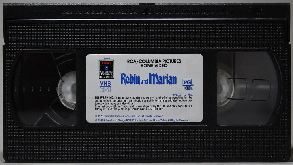 ROBIN AND MARIAN - VHS: Columbia Pictures Home Video, 1991