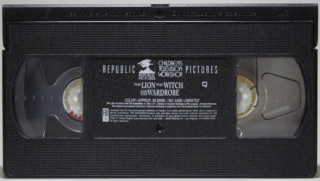 THE LION, THE WITCH AND THE WARDROBE - VHS:  Republic Pictures, 1993