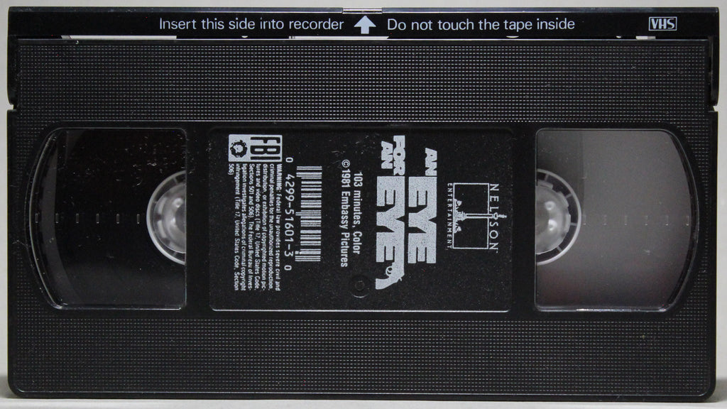 EYE FOR AN EYE - VHS: Embassy Home Video, 1985