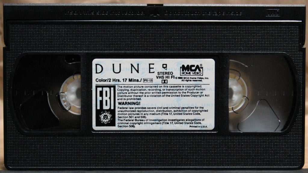 DUNE - VHS: MCA Universal Home Video, 1990