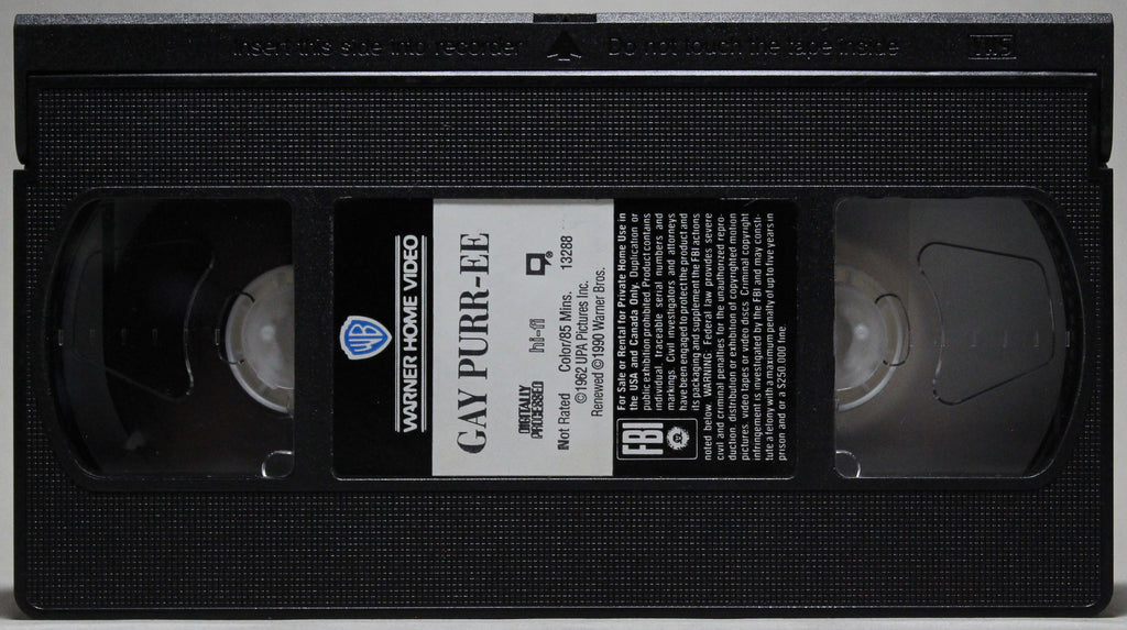 GAY PURR-EE - VHS: Warner Home Video, 1994