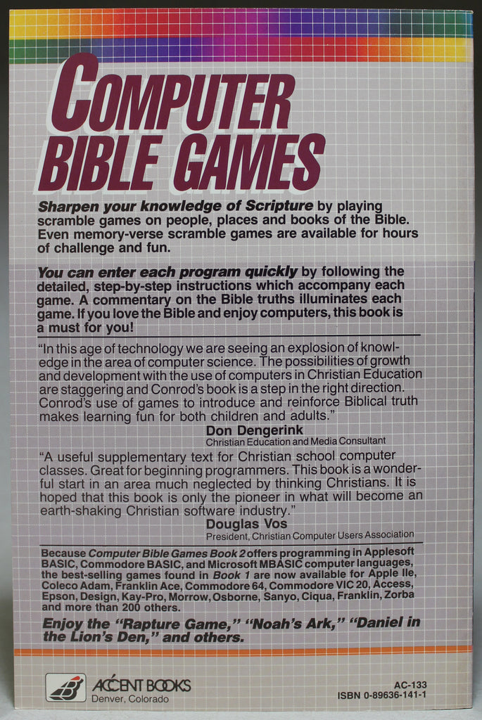 Computer Bible Games: Computer Fun for the Whole Family