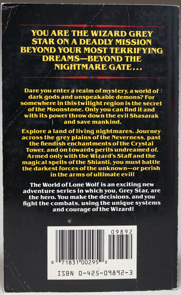 DEVER, JOE & PAGE, IAN: The World of Lone Wolf: Book 3 - Beyond the Nightmare Gate