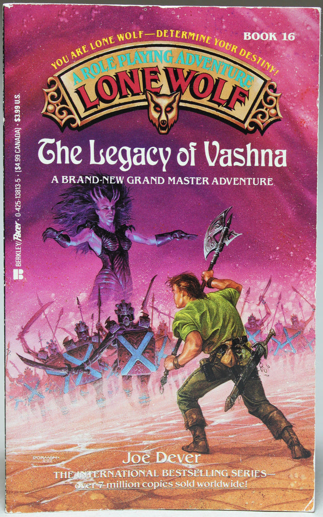 DEVER, JOE: Lone Wolf A Role Playing Adventure: Book 16 – The Legacy of Vashna
