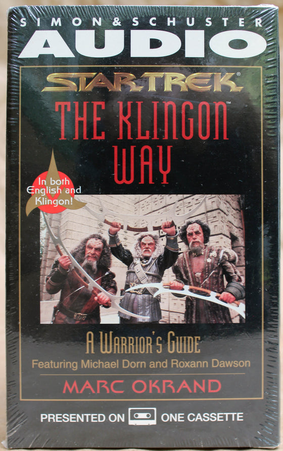 STAR TREK: THE KLINGON WAY - Audio Cassette (sealed): Simon & Schuster Audio, 1996