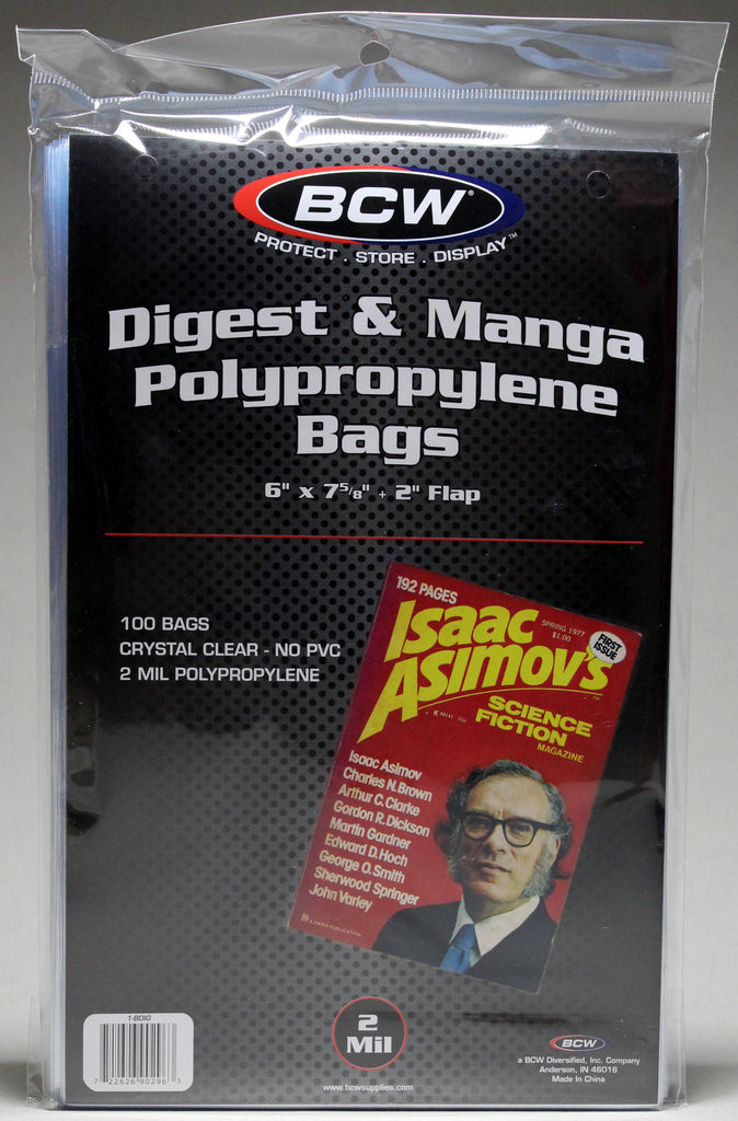 Digest or Manga Book – Polypropylene Bags