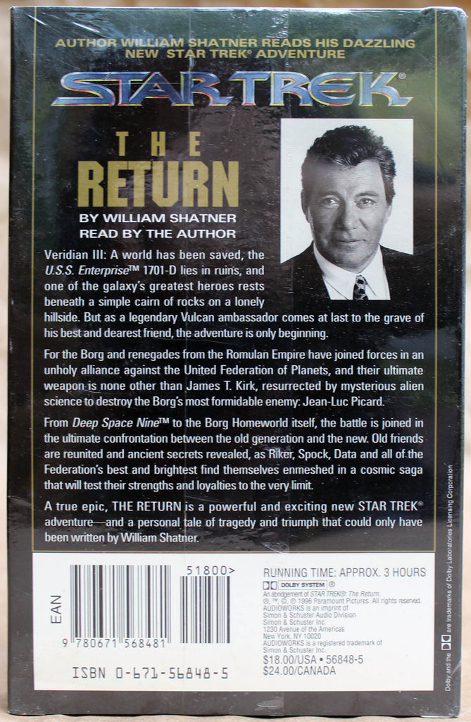 STAR TREK: THE RETURN - Audio Cassette (sealed): Simon & Schuster Audio, 1996