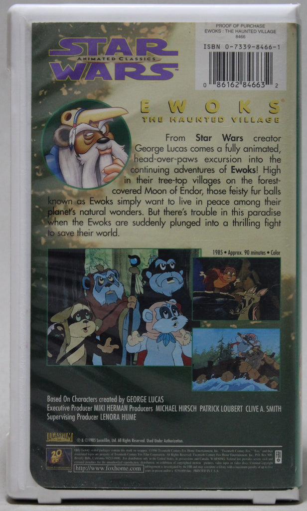 EWOKS: THE HAUNTED VILLAGE - VHS: 20th Century Fox, 1997