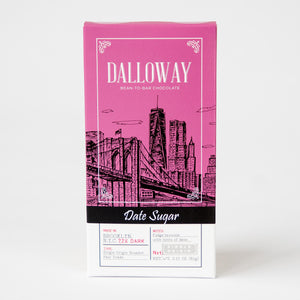 Date Sugar - 72% Dark Chocolate (Made with Dried Dates!)