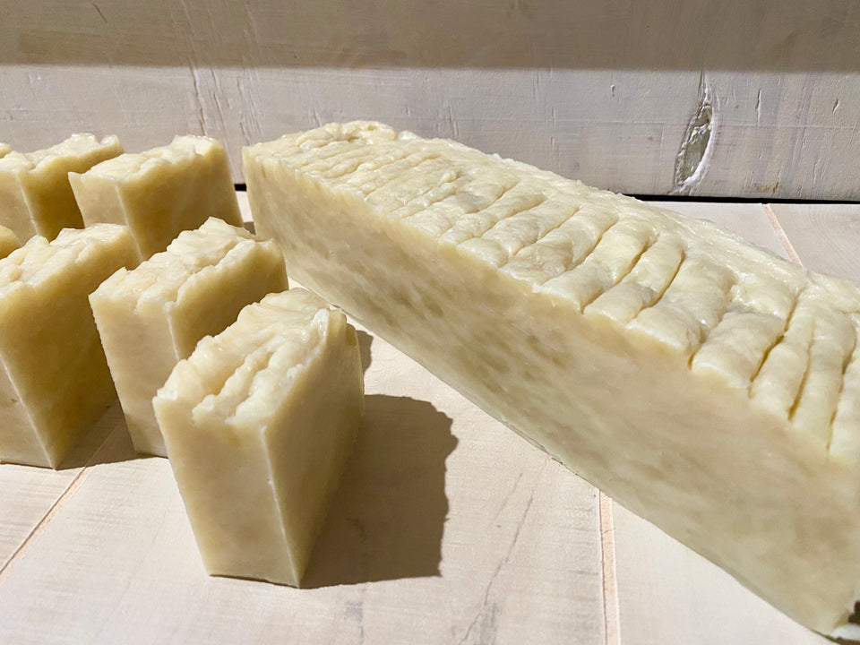Whole Loaf, Tea Tree Soap, Uncured, Strong Scented Soap, Raw Plant Ingredients,