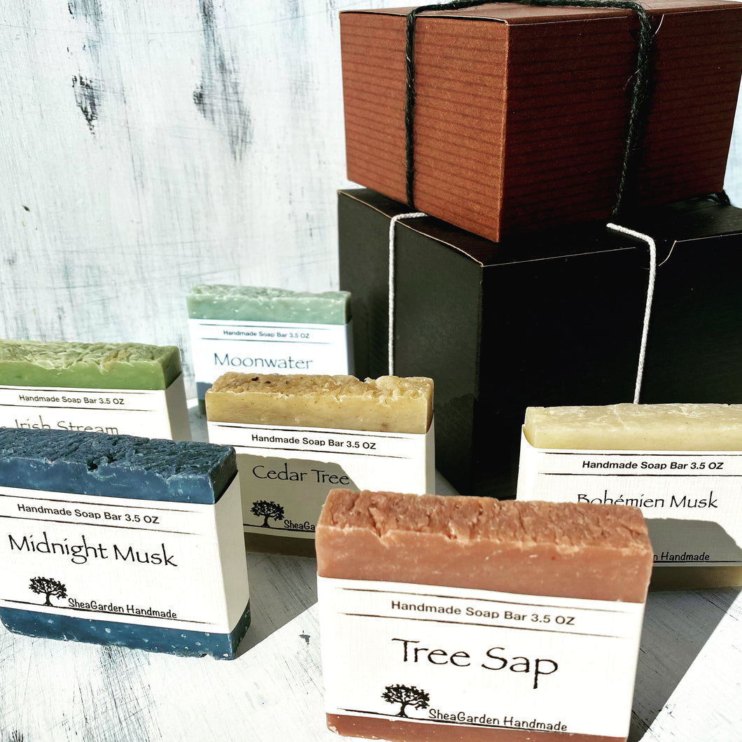Men's Soap Gift Set, Eco Friendly Packing Recyclable, Plastic Free Shipping, Soap For Men