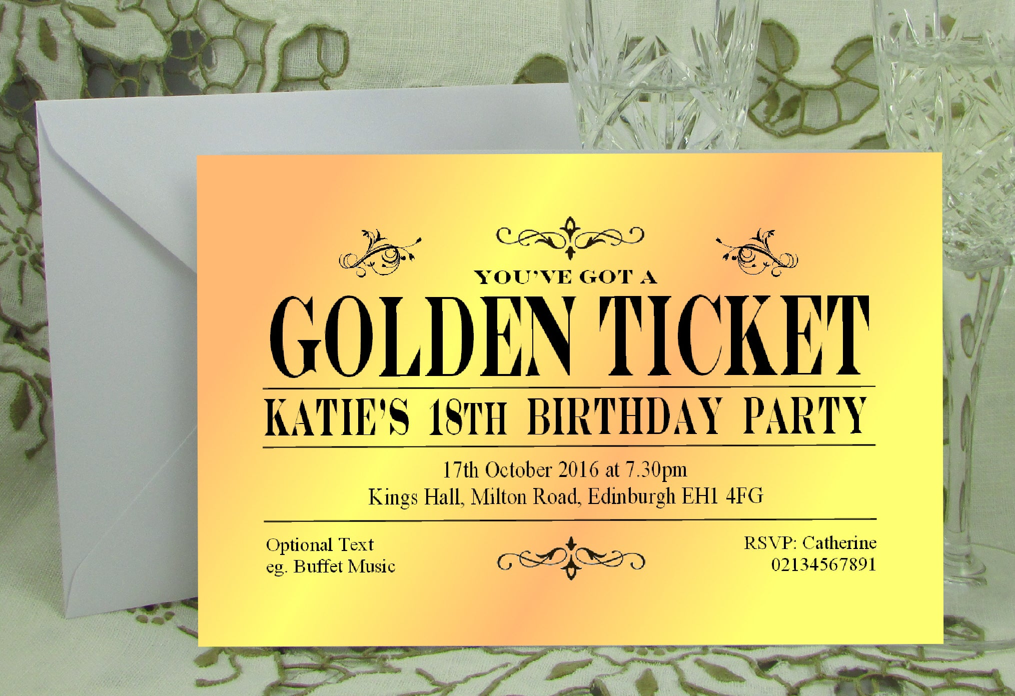 Bigger Splash personalised party invitations. UK supplier. Free P+P ...