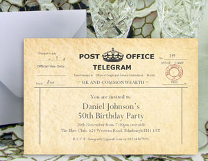 Birthday Party Invitations personalised with your own party details ...