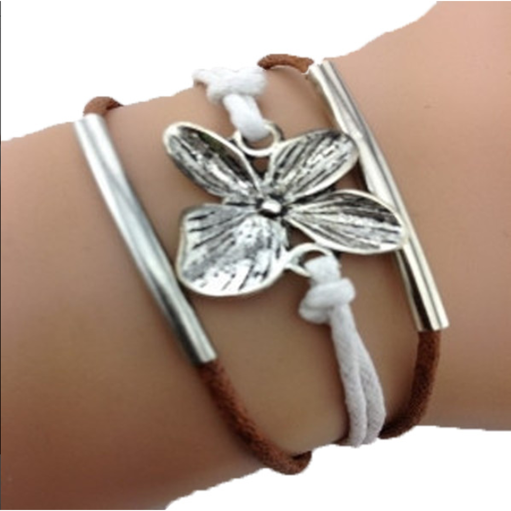 Simply Flower Brown Bracelet (Shipped From USA)