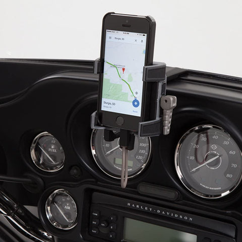 Smartphone/GPS Holder Fairing Mount with Charger