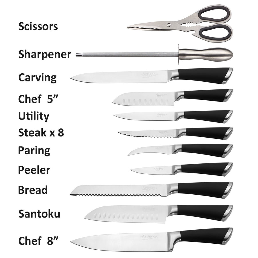Kitchen Knife Set 19 Piece