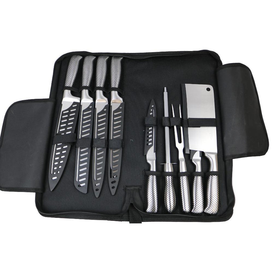Professional Knife Set 9-Piece with Carry Case