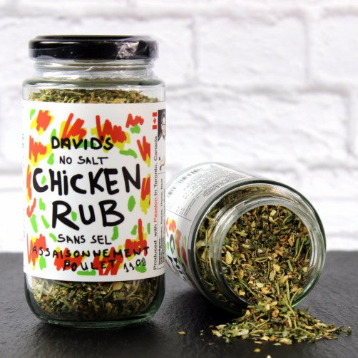 Chicken rub, rosemary, tarragon, marjoram, garlic.Make marinade for chicken.