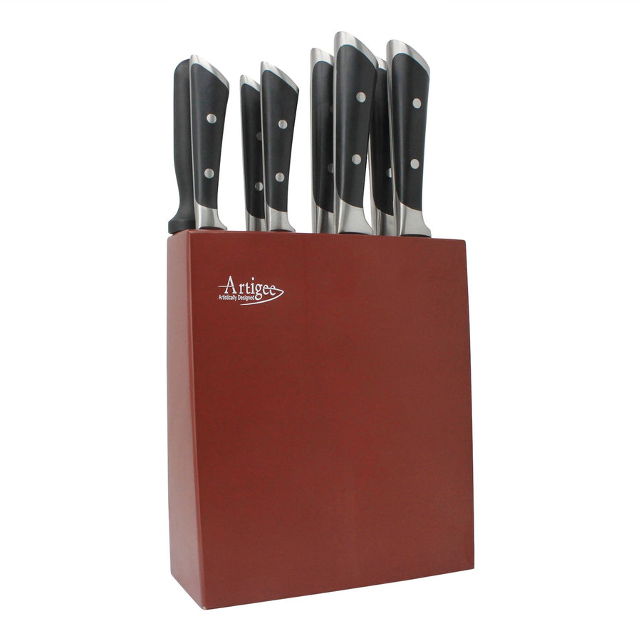 Knife Set 9 Piece with Acacia Wood Block