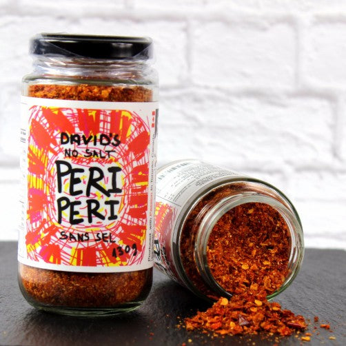 Peri Peri Rub, African, chilli peppers, lemon peel, garlic.
