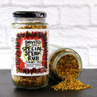 Spice Steak Rub, red chillies, black pepper, dehydrated vegetables, and spices, gluten-free.