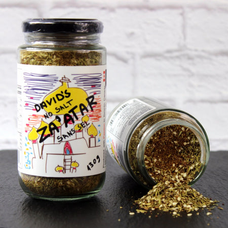 Za'atar Rub, spices, cumin, onion, thyme, lemon flavoured sumac.,  flavour of the middle east