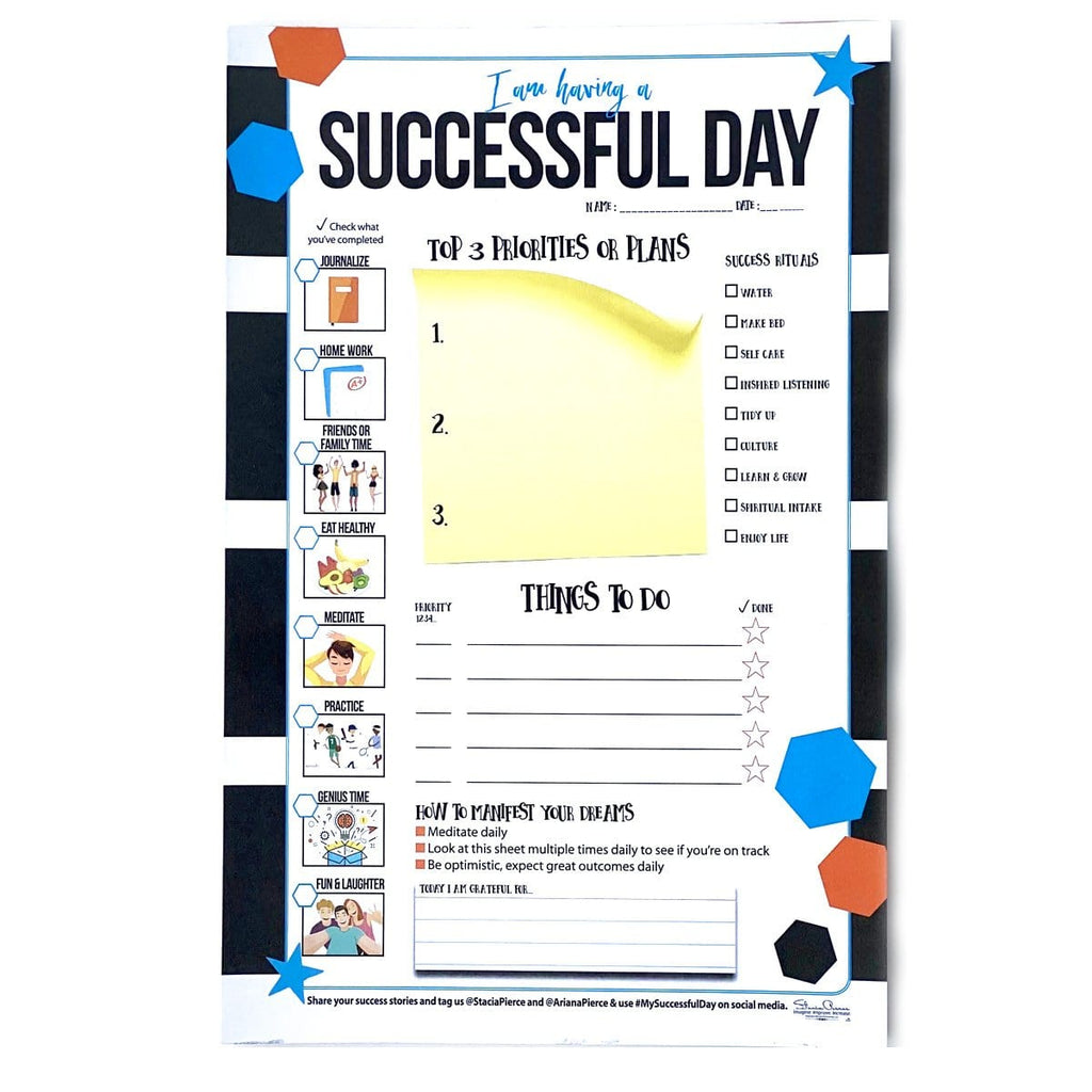 Successful Day Teen Notepad Blue