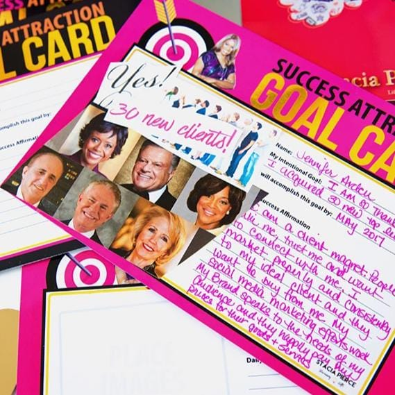 Success Attraction Goal Cards