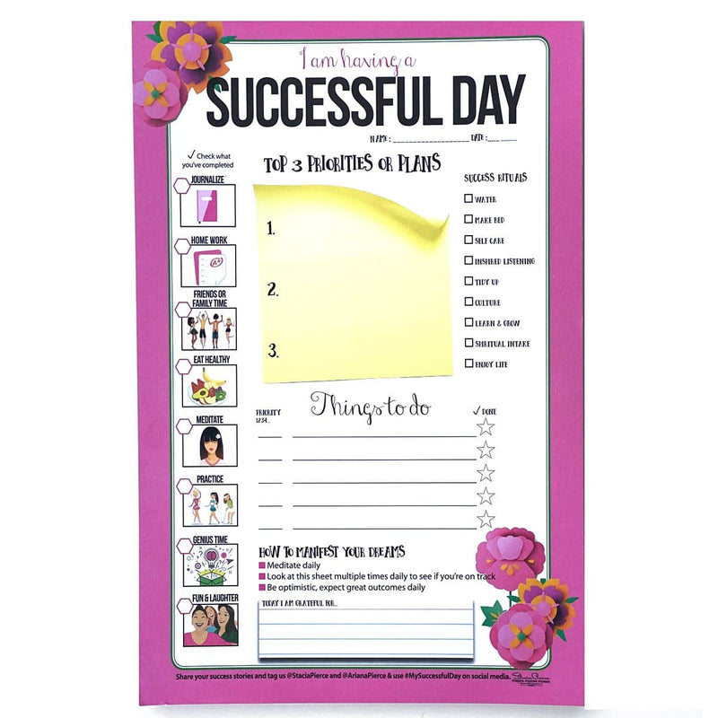 Successful Day Teen Notepad Pink