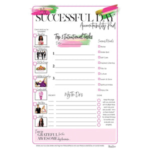 Successful Day Notepad-Crisp White