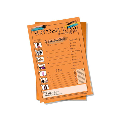 Successful Day Notepad-Optimum Orange