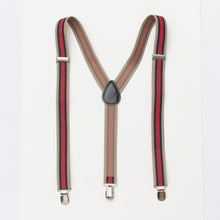 adult mens suspenders red and tan