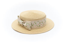 Baby girl straw hat with bow