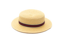 Boys Boater Hat Tan Straw