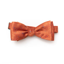 Mens classic art deco orange bow tie