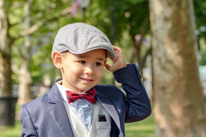 Gray Flat Cap for Boys
