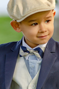 boys repp stripe bow tie