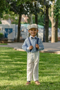 boys blue suspenders