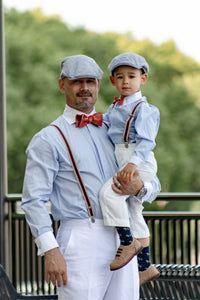 Father and son wedding outfits