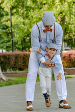 ring bearer suspenders for boys navy and orange