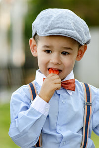 Baby Orange Navy Stripe Suspenders
