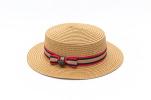 boys boater straw hat Junior Baby Hatter