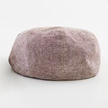 Ross - Rust Chambray Baby Boy Flat Cap