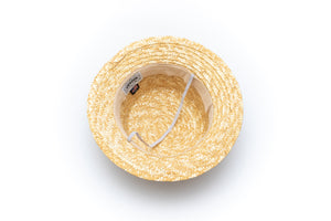 cool straw hat for baby boys with chin strap