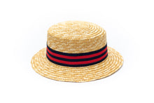 Toddler boater straw hat 50 cm