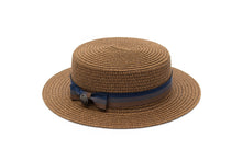 brown boater hat for kids